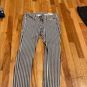 Rag and bone skinny striped jeans
